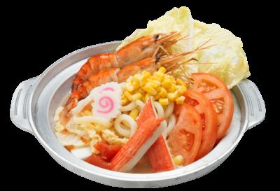 Tomato Seafood Udon Soup
